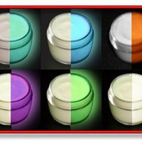 Amazon.com: 6 Col Set Glow in the Dark Aqua, Green, Blue, Lilac, Orange, White Paint 2oz (12oz): Arts, Crafts & Sewing