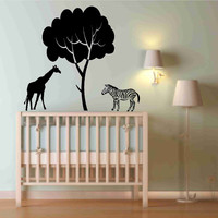 Zebra And Giraffe Decal For Baby Nu.. on Luulla