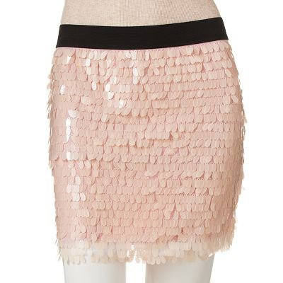 Candies Sequin Body Con Skirt