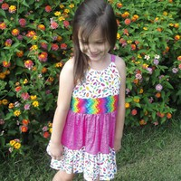 Girls Ruffled Sun Dress Size 3 Spri.. on Luulla