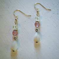 Mother of Pearl and Rose Quartz Earrings