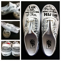 I am who He says I am-VANS- Made to Order