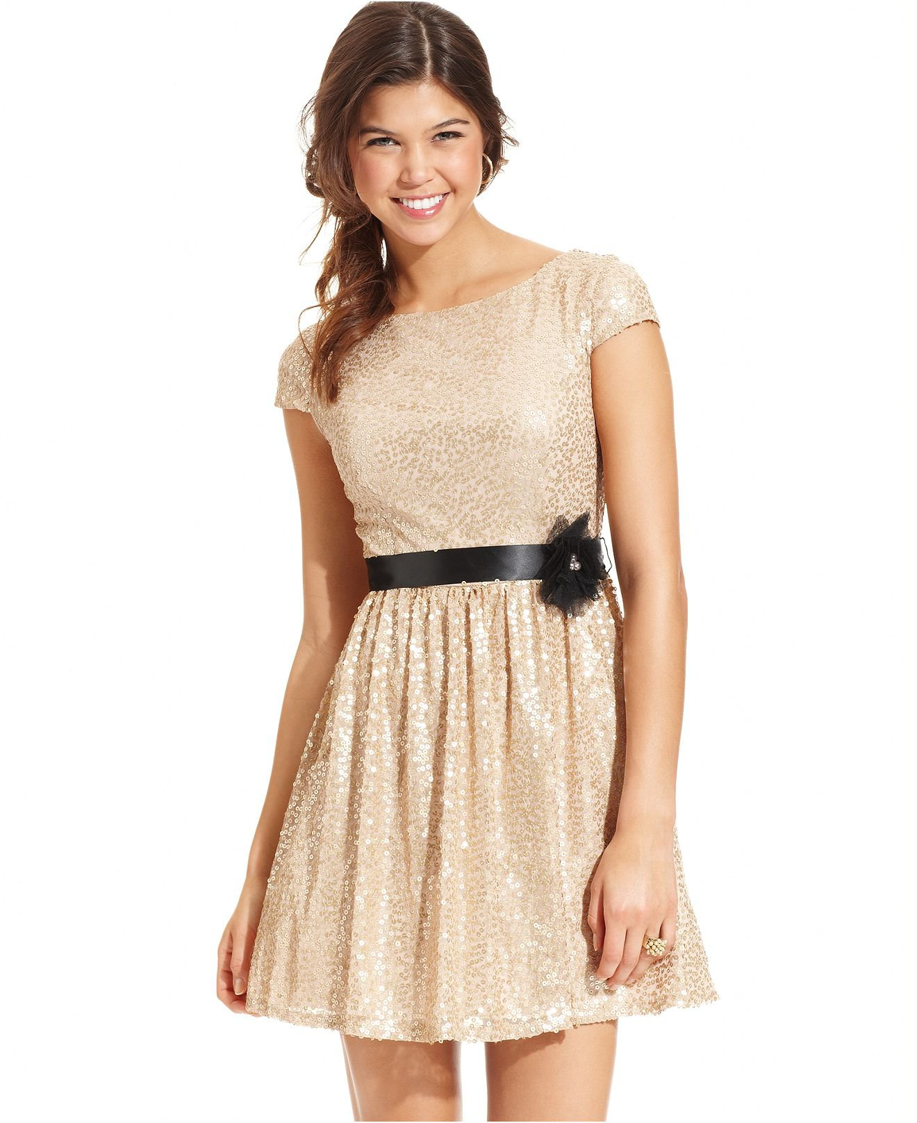 Junior Party Dress with Sleeves