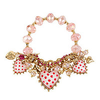 Betsey Johnson Heart Charm Bracelet | Dillards.com