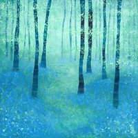 Bluebells, Challock Stretched Canvas by Squirrell | Society6