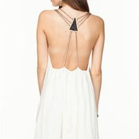 A'GACI Chain Back Flow Dress - DRESSES