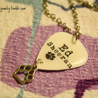 Ed Sheeran Pawprint Logo Guitar Pick Necklace