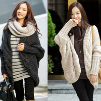 Fashion Cable Knit Long ...