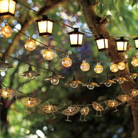 Mercury Glass Globe String Lights