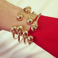 Twin Skull Bracelet