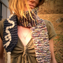 Knitted scarf /  Wool scarf / Women&#x27;s scarf / Winter accessory / Grey scarf / Unique scarf / Earwarmer / Warm accessory