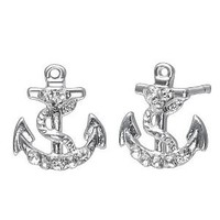 Soufeel sterling silver anchor stud earrings: Jewelry: Amazon.com