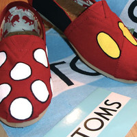 Custom Toms Shoes Mickey...