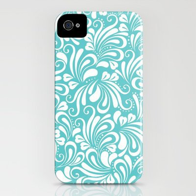Laughter in Blue &amp; White iPhone Case by Diane Kappa | Society6