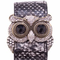 snake print owl bracelet &amp;#36;16.10 in BLACKGLD IVORYGLD - Bracelets | GoJane.com