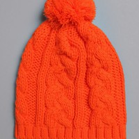 Neon Cable Bobble Hat