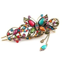 Amazon.com: Lovely Vintage Jewelry Crystal Butterfly Hairpins Hair stick- for hair clip Beauty Tools: Beauty