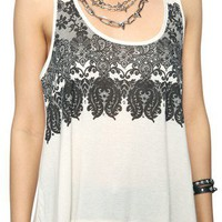 Printed Lace Tank | FOREVER 21 - 2000040274