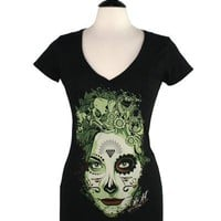 Dead Queen V-Neck Womens Tee