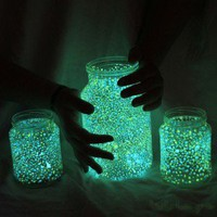 Once I have time... / Making these for the garden this year! Mason jars painted or flicked with glow  in the dark paint....so simple!