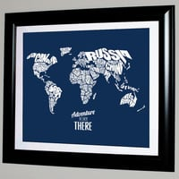 Adventure Is Out There - World Word Map with Travel Quote - 8x10
