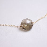 Mystic - smoky swarovski crystal gold necklace - simple gold filled jewelry by AmiesAmies