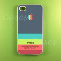 Iphone 4 Case -  Gray Pink Strip Iphone Case,Iphone 4s Case