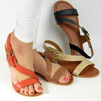 Womens Sandals Flat Gladiator Strappy in Black Brown Orange Beige New