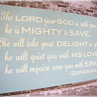 Mighty To Save Christian Wall Decor  Antiqued by cellardesigns