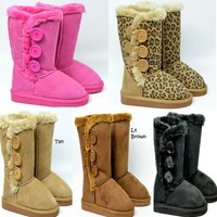 Girls Winter Boots w/But...