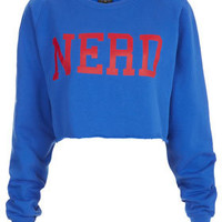 Nerd Crop Sweat - Sweatshirts &amp; Hoodies - Jersey Tops  - Clothing