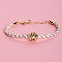 Golden Rules White and Gold Friendship Bracelet