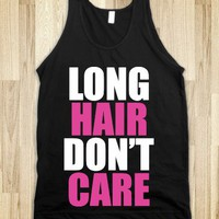 C - Long Hair Don&#x27;t Care (white, pink)