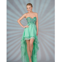 2013 Prom Dresses- Mint Beaded Strapless Chiffon Dress - Unique Vintage - Cocktail, Pinup, Holiday & Prom Dresses.
