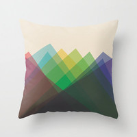 "20""x20"" Colorful Geometric Throw Pillow"