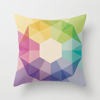 20&quot;x20&quot; Colorful Geometric Throw Pillow COVER ONLY