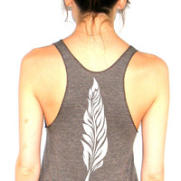 Feather - American Apparel Racerback Tank Top - XS, Small, Medium, Large