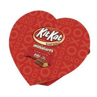 Kit Kat Valentine's Miniatures, 8 Ounce Heart Box: Amazon.com: Grocery & Gourmet Food