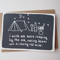 $3.19 I wish we were camping by katesutton on Etsy