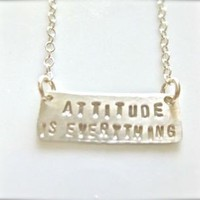 $50.00 Motivational Quote Jewelry  Attitude is by onelifejewelry on Etsy