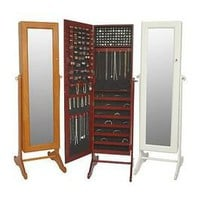 Gold & Silver Safekeeper Mirrorred Jewelry Cabinet by Lori Greiner