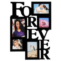 Amazon.com: 5 Opening FOREVER Photo Picture Frame - 12AD001-B ADECO - Wall Art,Wall Collage, Holds Two 4x6, Two 4&quot;x4&quot; Inch, and One 5&quot;x7&quot; Inch Photos Great Gift,Wooden,Black: Home &amp; Kitchen