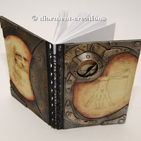 Steampunk Notebook Vitruvian Man Leonardo da Vinci