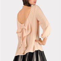 Waldorf Bow Blouse - Rose