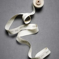 Salutations Ribbon in  Explore Material Love Black  White at BHLDN