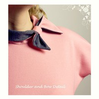 Sample Sale 50 off Stewardess Dress Salmon Grey by LanaStepul