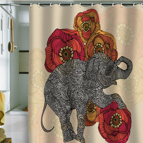Valentina Ramos Rosebud Shower Curtain