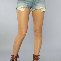 The 5 Pocket Midrise Cut Off Short in Sail Away Wash : Free People : Karmaloop.com - Global Concrete Culture