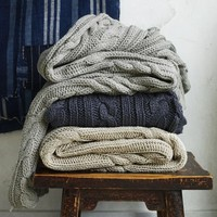 Braided Cable Throw