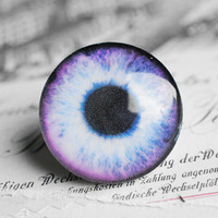 30mm handmade glass eye cabochon - purple eye